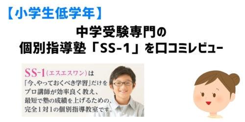 中学受験専門の個別指導塾「SS-1」を口コミレビュー